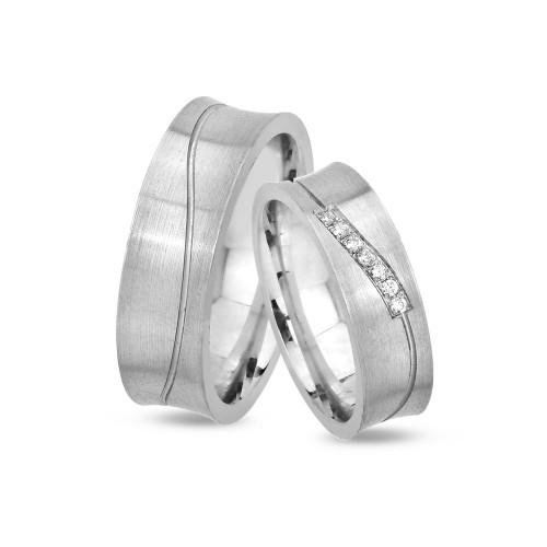 Gümüş Alyans Set
