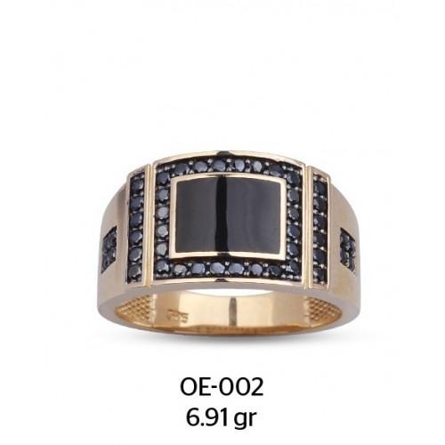 Ayna Model Altın Erkek Yüzüğü