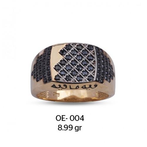 Arapça Motifli Altın Erkek Yüzüğü