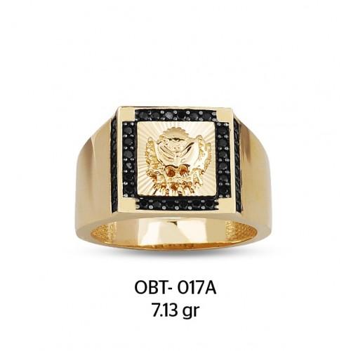 Altın Osmanlı Devlet Armalı Erkek Yüzüğü