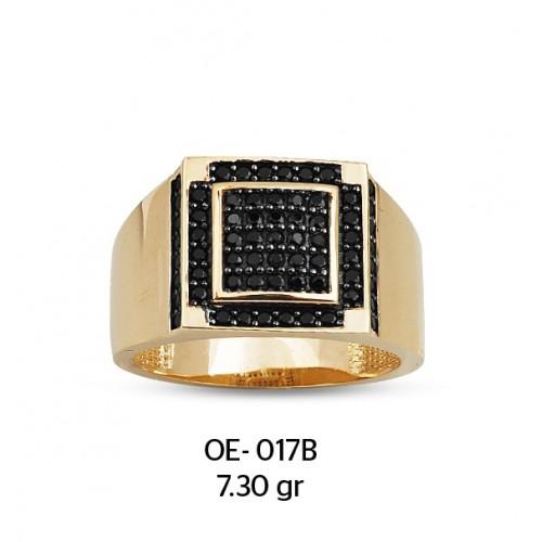 Kare Çerçeveli Altın  Erkek Yüzüğü