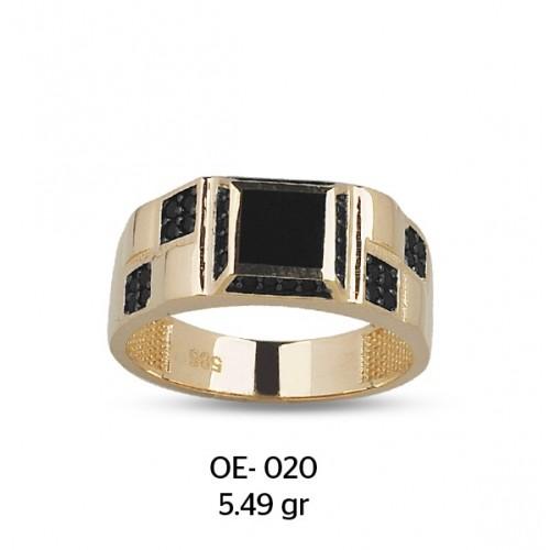 Satranç Temalı Altın Erkek Yüzüğü