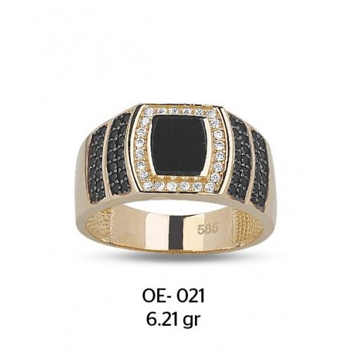 Dalgalar Temalı Altın Erkek Yüzüğü