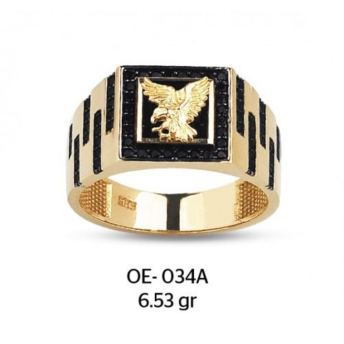Altın Kartal Motifli Altın Erkek Yüzüğü