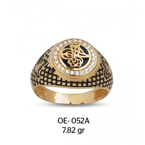 Üç Tuğralı Altın Erkek Yüzüğü