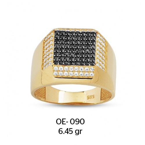 Platform Model Altın Erkek Yüzüğü