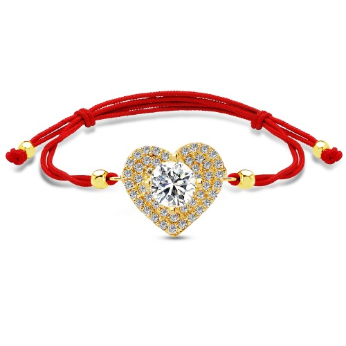 8 Ayar Kalp Bileklik