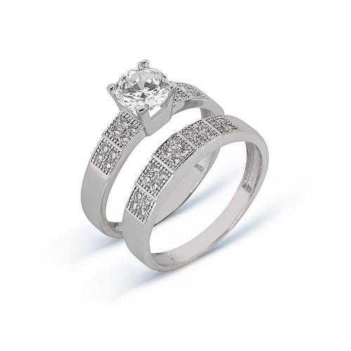 Altın İkili Nişan Yüzüğü