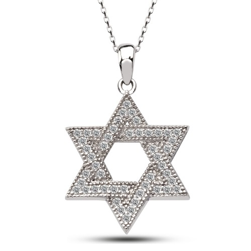 Davut Yıldızı Gümüş Kolye