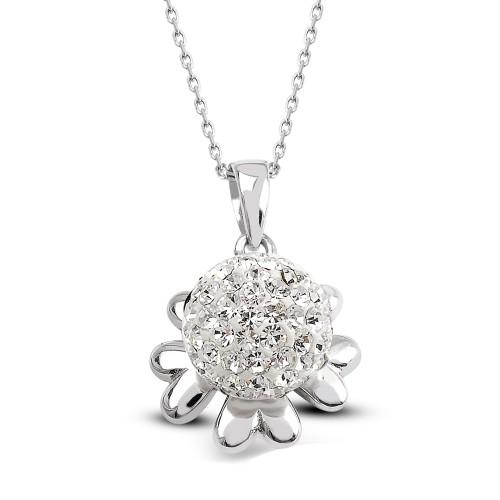 Çiçek Gümüş Kolye