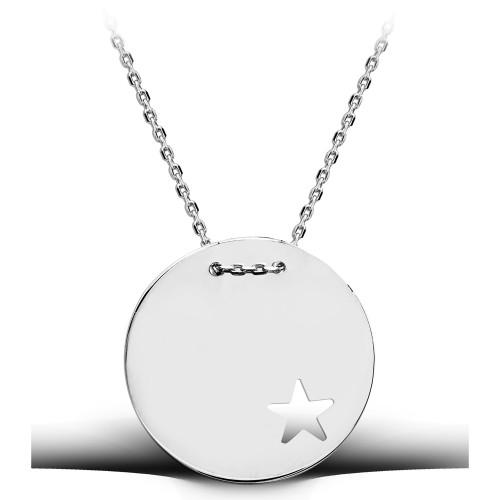 Yıldız Figürlü Madalyon Kolye