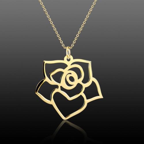 Çiçek Kesim Gümüş Kolye