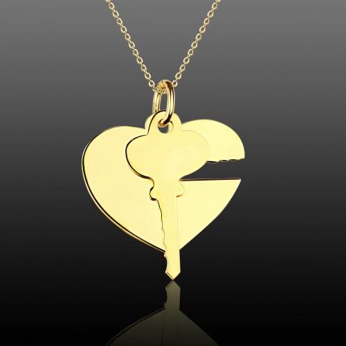 Kalbimin Anahtarı Gümüş Kolye