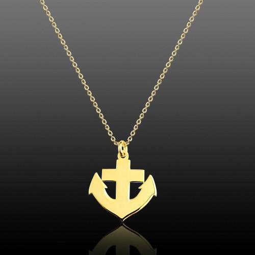 Gemi Çıpası Gümüş Kolye