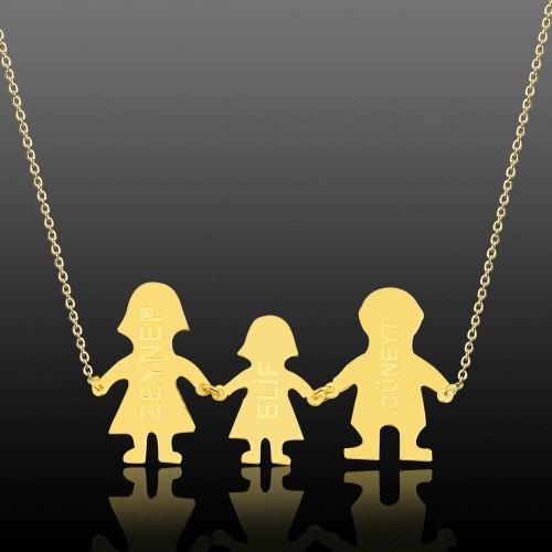 Gümüş Aile Kolyesi