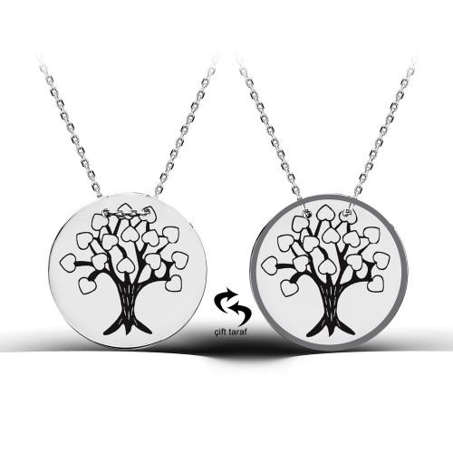Hayat Ağacı Figürlü Madalyon Kolye