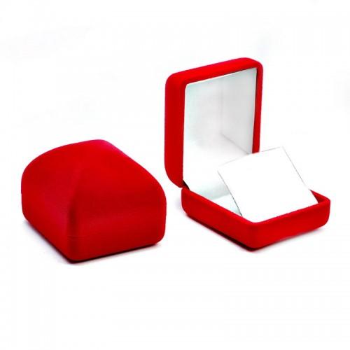 Kırmızı Kadife Kolye Kutusu