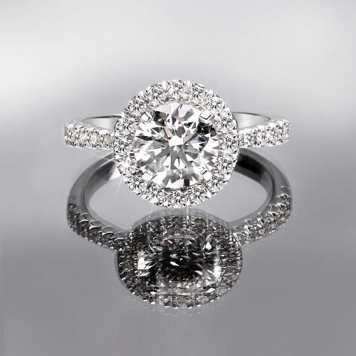 1,25 Ct-G-VSPırlanta Tek Taş Evlilik Yüzüğü