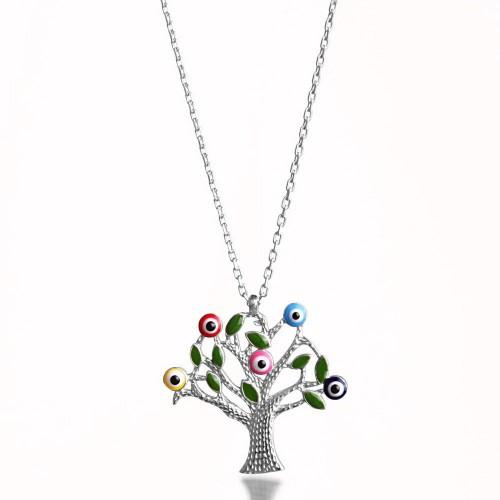 Hayat Ağacı Gümüş Kolye